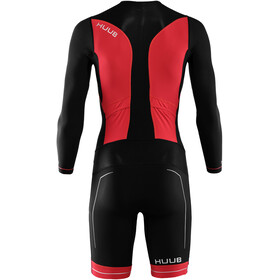 HUUB Race Full Sleeve Trisuit Men black/red